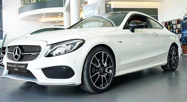 Mercedes AMG C43 4MATIC Coupe 2017 là chiếc xe sedan 2 cửa, 5 chỗ có thiết kế ngoại thất đậm chất thể thao