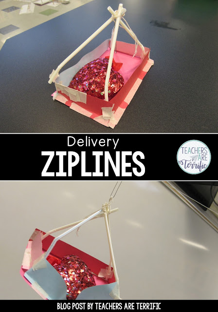 STEM Challenges for Valentine's Day! Build a Delivery Zip Line, Build a Candy Box, and Build a working Bow and Arrow.