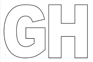 Moldes de letras G e H