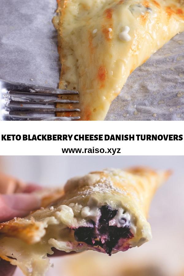 KETO BLACKBERRY CHEESE DANISH TURNOVERS