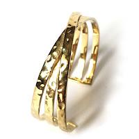 Bracelet plaqué or et argent rhodié massaï