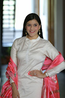 Mannara Chopra in Silky White Salwar Suit with Pink Chunni Latest Exclusive Pics March 2017 ~  060.JPG