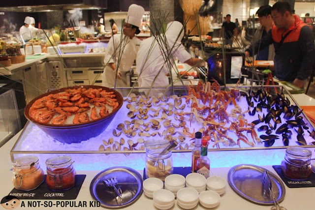 Chilled Seafood in The Hyatt Buffet