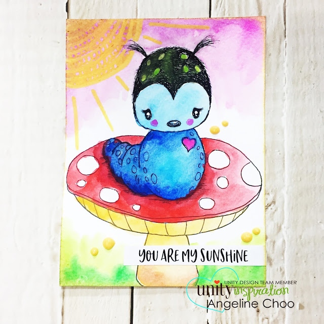 ScrappyScrappy: Doodle and Watercolor #scrappyscrappy #unitystampco #stamp #stamping #papercraft #scrapbook #quicktipvideo #youtube #video #cuddlebug #tierrajackson #aliceinwonderland #doodle #adornit #watercolors #caterpillar #janedavenport