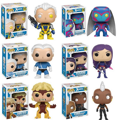 X-Men Classic '90s Era Pop! Marvel Series 2 Vinyl Figures by Funko - Cable, Archangel, Psylocke, Sabretooth, Quicksilver & Mohawk Storm