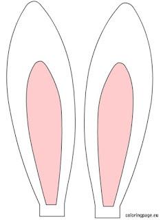 descarga las plantillas que más te gusten para hacer tus orejas de conejo de Pascua