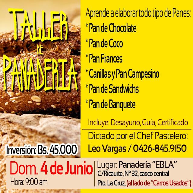 imagen Taller Panadería  Puerto la cruz 04 de junio 2017