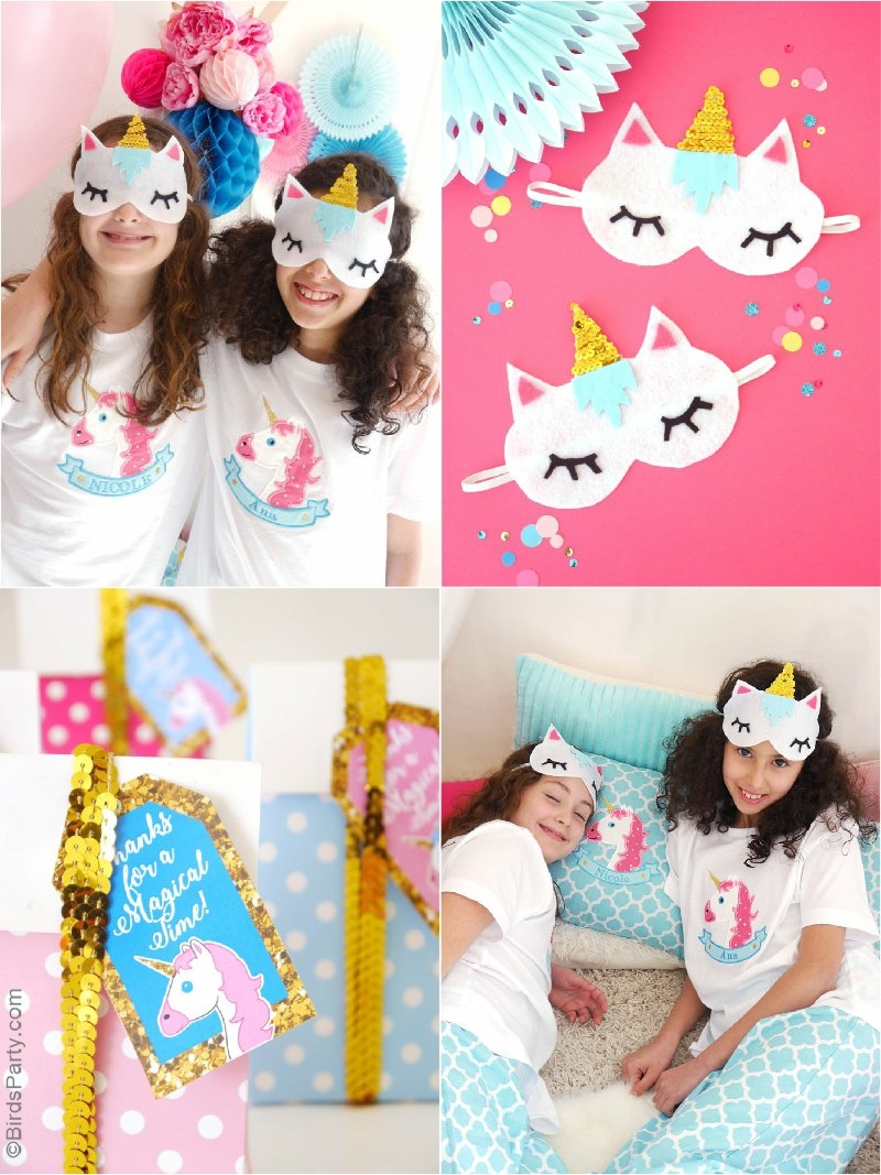 A Unicorn Birthday Slumber Party