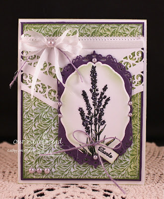 Our Daily Bread Designs,  Lavender, Vine Background, Ornate Borders Sentiment