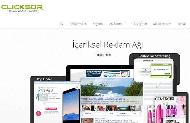 Adsense Alternatifi Reklam Siteleri Clicksor - Kurgu Gücü