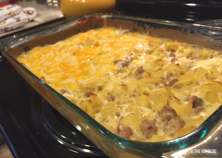 (Mostly) Lactose Free Tuna Casserole: A Comfort Food // www.thejoyblog.net