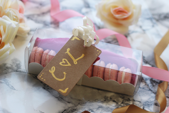 Wedding favour macaron recipe gift ideas