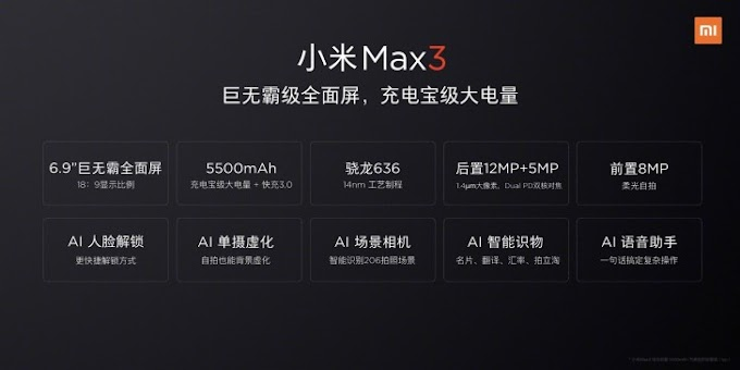 Mi Max 3 Specs, Price, Features, Leaked Images, Price Launch Date India Mi Max 3