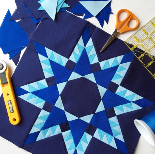 No Y Seam Feathered Star Quilt Free Pattern