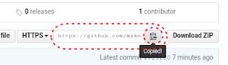 Menyalin Repository URL