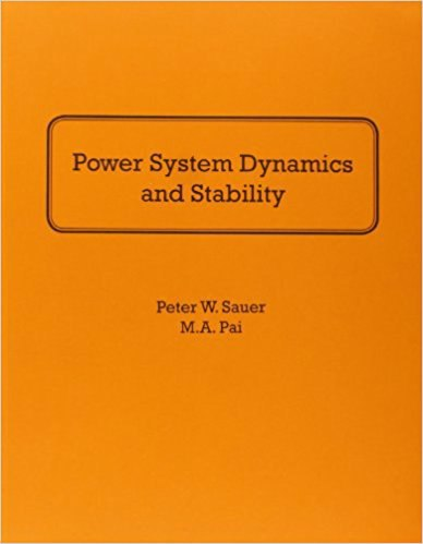 POWER SYSTEM DYNAMICS AND STABILITY [PETER W SAUER & M A PAI]