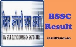 Bihar SSC Circle Inspector Result 2014