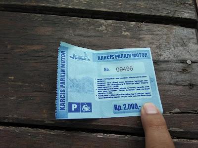 karcis parkir jembangan wisata alam