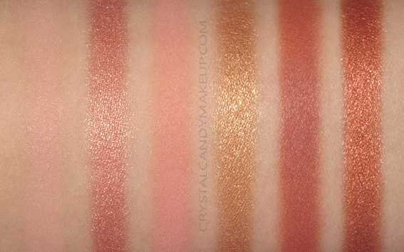 Viseart Theory Eyeshadow Palette VII Siren Swatches