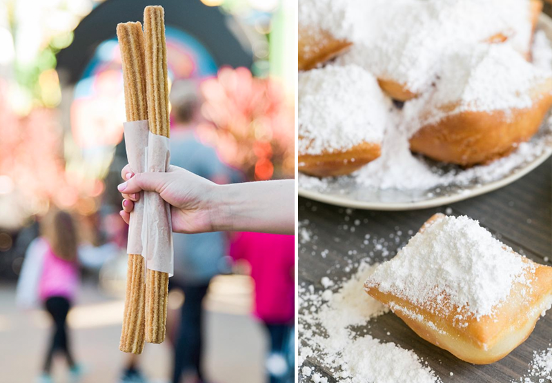food around the world. food bucket list. disneyland churros beignets dessert