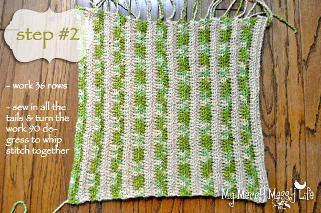 Ribbed Baby Cocoon Crochet Pattern - Step 3