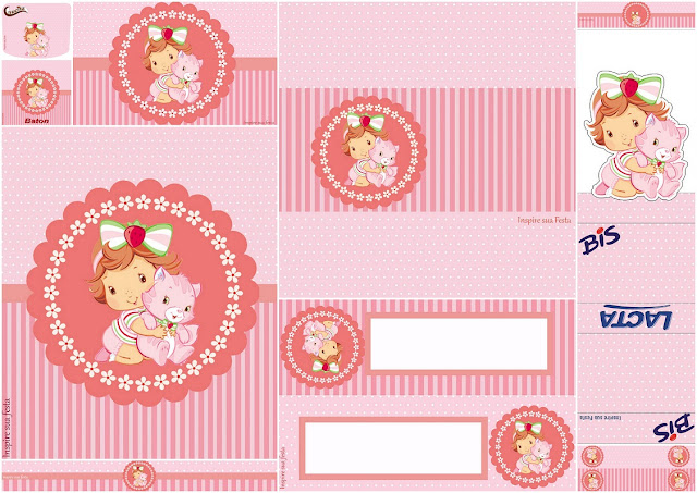 Cute Strawberry Shortcake Baby Party: Free Printable Candy Bar Labels.