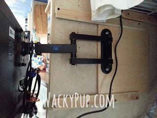 Watch TV Around Corners with a DIY Sliding TV Bracket - Amazing! Wacky Pup Blog