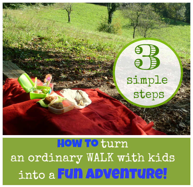 How to turn an ordinary walk with kids into a fun adventure
