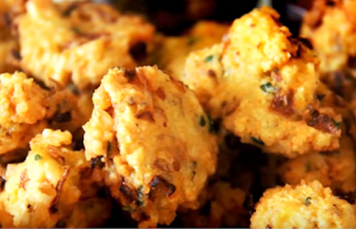 चावल के पकौडे रेसिपी - Rice Fritters Recipe - How to Make Rice Fritters at Home , Rice ke Pakode