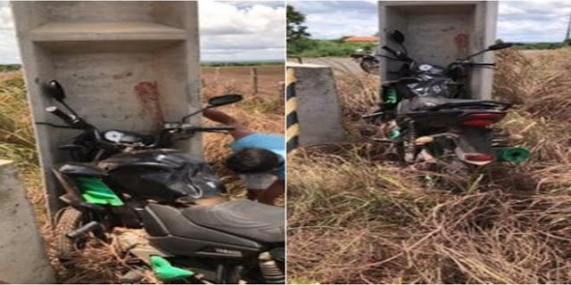 SÃO PEDRO DO PIAUÍ-Homem morre ao colidir motocicleta em poste no Piauí