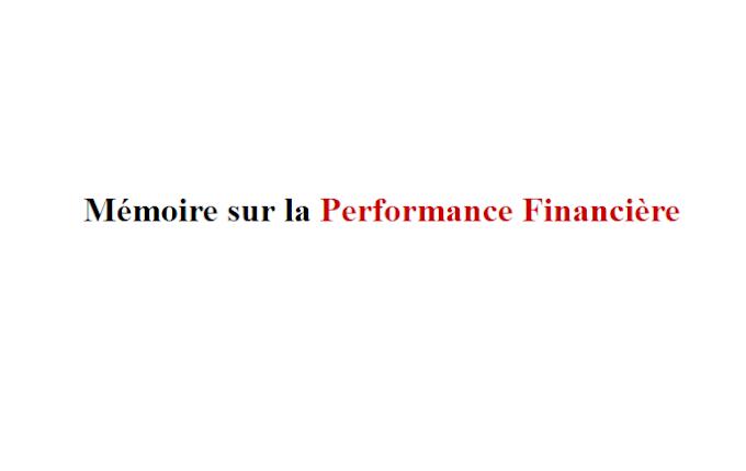 Mémoire sur la Performance Financière