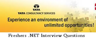 TCS Freshers .NET Interview Questions - 2015