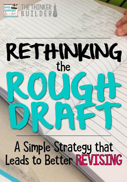 When students make this small change to how they write their rough draft, it allows them a lot more freedom when it comes to revising. Such a simple yet powerful idea!