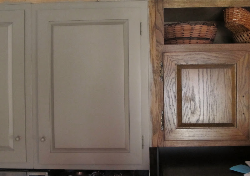 Painting Oak Kitchen Cabinets Maintaining Grain