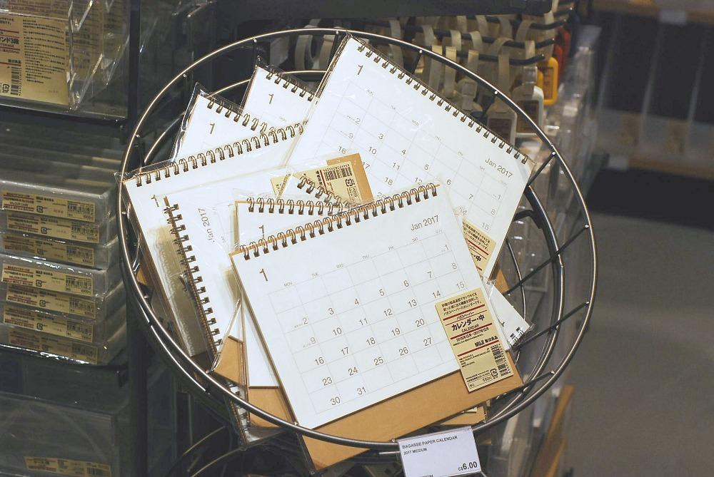MUJI Canada planner stationery