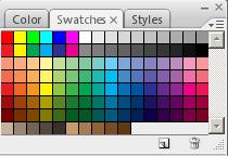 Mengenal Fungsi Pallete pada Photoshop, fungsi palet swatches