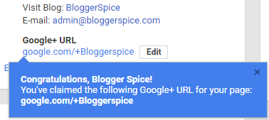 G+ custom URL sets