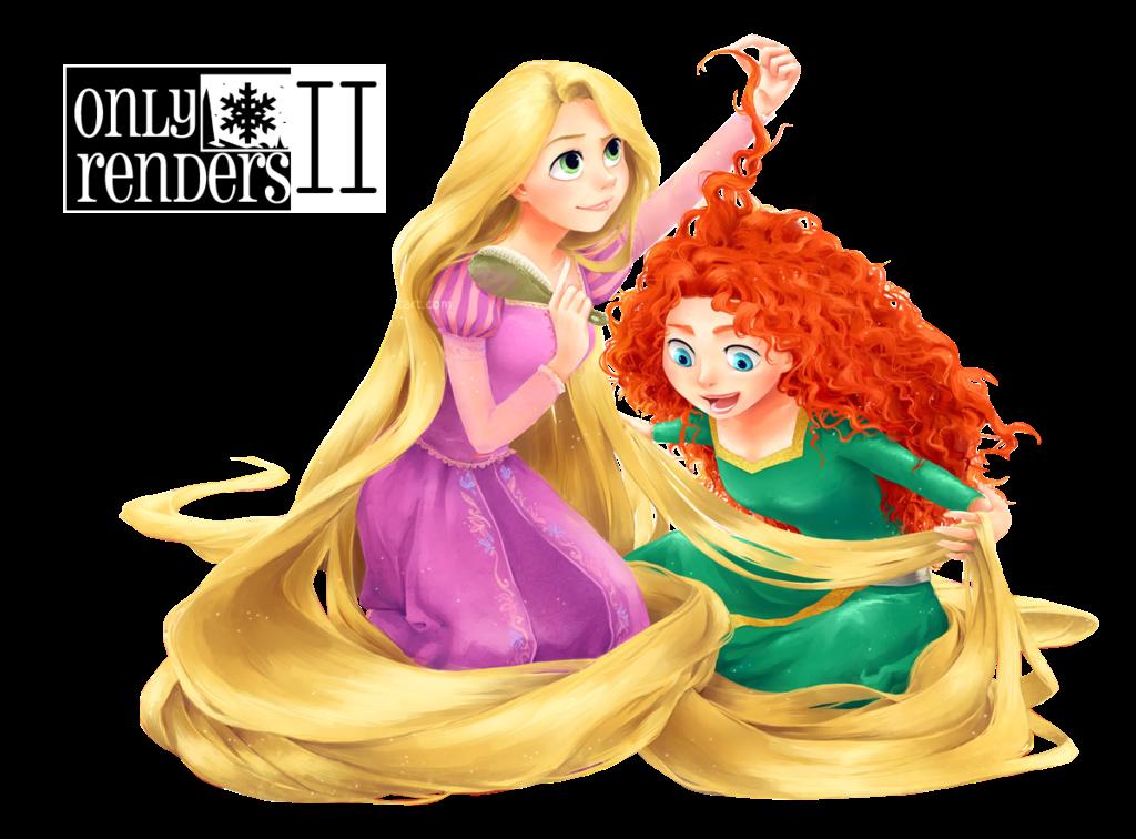 render Rapunzel,Mérida