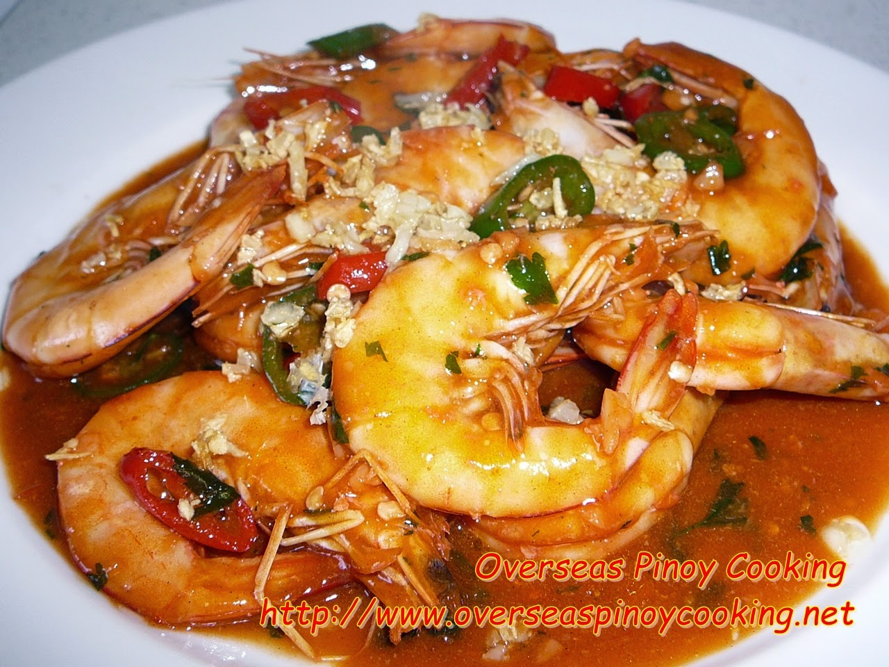 Pinoy Prawn in Sweet and Spicy Sauce