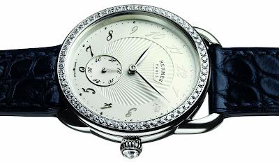 Hermès Arceau 34 mm automatic watch diamond set case