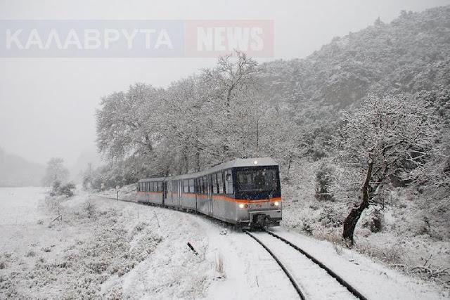 Σφοδρή χιονόπτωση στα Καλάβρυτα