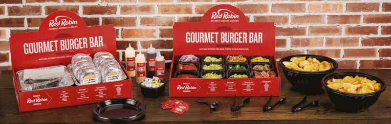 Red Robin Launches The New Gourmet Burger Bar As Chain S Build Your Own Catering Option At Paring Restaurants Nationwide