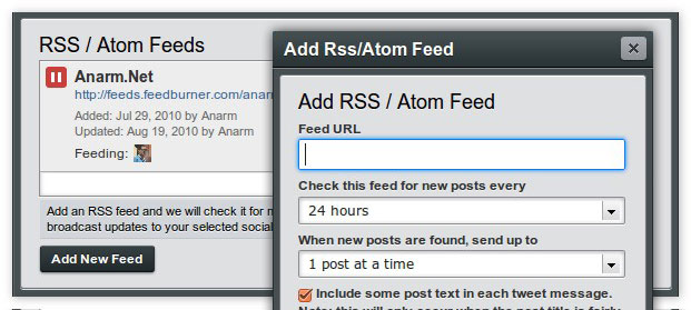 rss feed hootsuite auto tweet