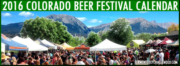 2016 Colorado Beer Festivals Calendar