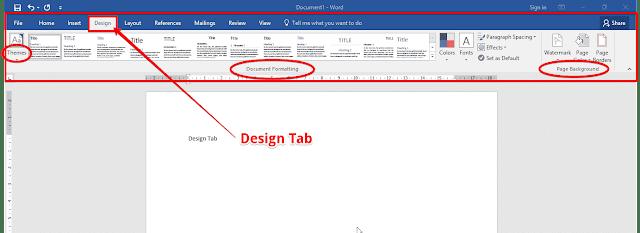 Design tab in word | MS Word 2016 | Design tab |