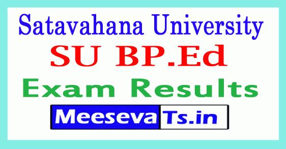 Satavahana University BP.Ed  Exam Results