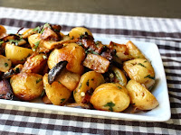 "Kicking Off Side Dish Season with Roasted ""Wild"" Mushroom and Potato Salad"