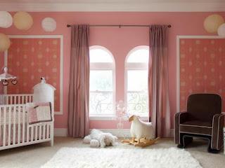 Habitación bebé chocolate rosa