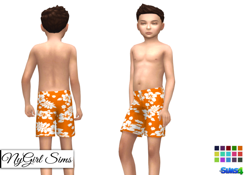 Nygirl sims 4 boys swim trunk three pack for Pack swimming