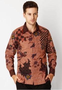 Baju batik muslim pria yang keren